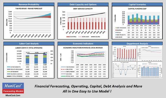 Municipal financial forecast software
